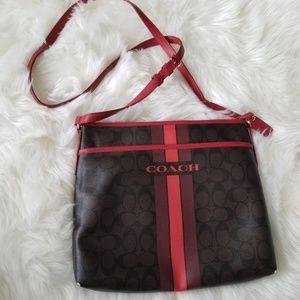 COACH - Signature Zip File Crossbody Bag
